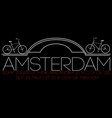amsterdam city modern t-shirt typography graphics vector image