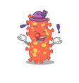 an attractive bacteroides cartoon design style vector image vector image