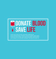 background donate blood save collection vector image vector image