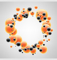 background with orange and black bubbles vector image vector image