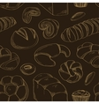 Bakery and pastry products icons set pattern vector image vector image