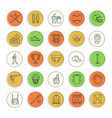 Baseball softball sport game line icons
