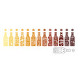 beer color chart vector image vector image