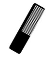 black cosmetic comb vector image