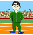 Cartoon athlete vector image