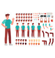 Cartoon male character kit man animation body