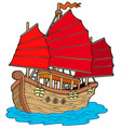 chinese ship vector image