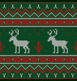 christmas knitted pattern winter geometric vector image