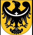 coat of arms of lower silesian voivodeship in vector image