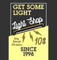 color vintage light shop banner vector image vector image