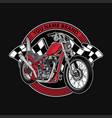 design logo club motorcycle vector image
