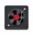 detailed icon of the retro vinil record player vector image vector image