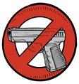 doodle guns no color vector image vector image