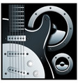 electronic guitar and speaker system vector image vector image