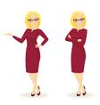 Elegant businesswoman in different poses vector image vector image