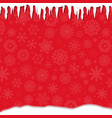 elegant winter festive red template with fallen vector image vector image