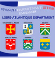flags and emblems of french department cities vector image vector image