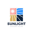flare sun light in window logo icon vector image