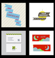 flyer for business and web information vector image vector image