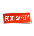 food safety square sticker on white vector image vector image