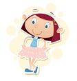 girl with new dress vector image
