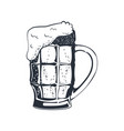 glass beer monochrome vector image