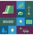 Green energy icons set Eco concept vector image vector image