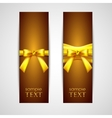 greeting cards with yellow bows vector image