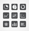 Information chart icons collection