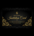 invitation card luxury design with gold vector image vector image
