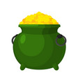 leprechaun pot gold isolated bowler golded coins vector image vector image