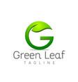 letter g leaf logo design template vector image