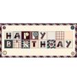 Letters Happy birthday vector image