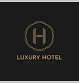 luxury logo design vector image