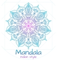 Mandala thin line indian style vector image vector image