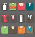 Mans Clothing Icon vector image vector image