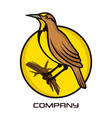 meadowlark bird logo vector image vector image