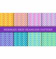 mermaid skin iridescent seamless pattern vector image