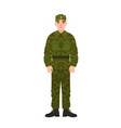 military man of russian armed force wearing vector image vector image