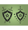 Military style emblems vector image vector image
