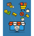 Modern web commerce vector image vector image