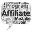 most common affiliate mistakes text background vector image vector image