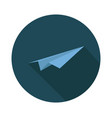 paper plane icon on white background vector image vector image
