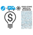 Patent Icon with 1000 Medical Business Pictograms vector image vector image