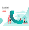phone call concept modern flat design concept vector image vector image