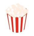 Popcorn isometric 3d icon vector image vector image