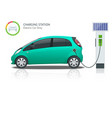 power supply for electric car charging electric vector image