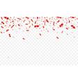 red confetti celebration carnival falling shiny vector image vector image