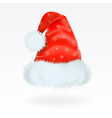 red santa claus hat with the pattern of golden sno vector image vector image