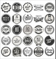 retro vintage badges collection 2 vector image vector image